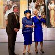 La reine Beatrix à la Grote Kerk à La Haye le 24 avril 2013 pour sa dernière mission officielle en tant que souveraine des Pays-Bas, pour l'inauguration d'une exposition Huygens.