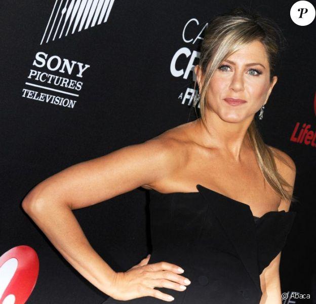 Jennifer Aniston lors de la présentation de Call Me Crazy : A Five Film à Los Angeles le 16 avril 2013