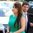 Kim Kardashian has starts her day at a studio and then stopped by Heritage Auctions in Beverly Hills, Los Angeles, CA, USA on April 17, 2013. The mother-to-be showed off her pregnancy curves in a green bodycon dress with matching green heels. Photo by Daniel Robertson/Startraks/ABACAPRESS.COM18/04/2013 - Los Angeles
