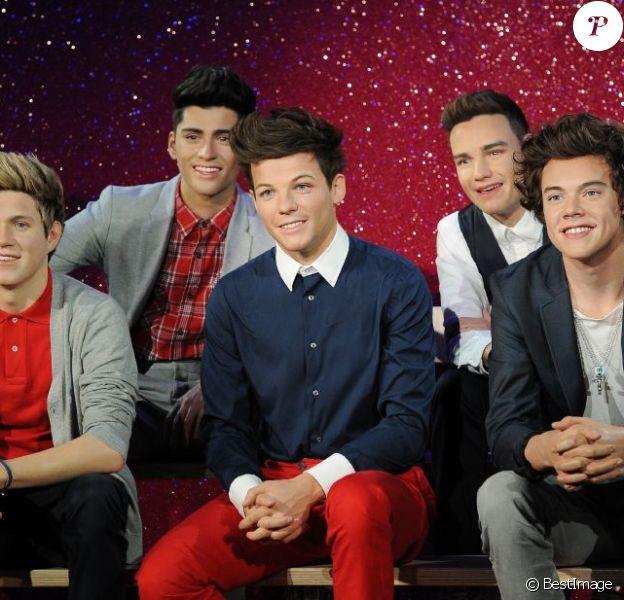 Le groupe anglais One Direction a fait son entrée au musée de Madame Tussauds à Londres, le 18 avril 2013.