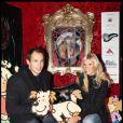 Alexandra Rosenfeld et son mari Sergio Parisse au lancement du calendrier du coeur 2009 à Paris, le 15 décembre 2008.