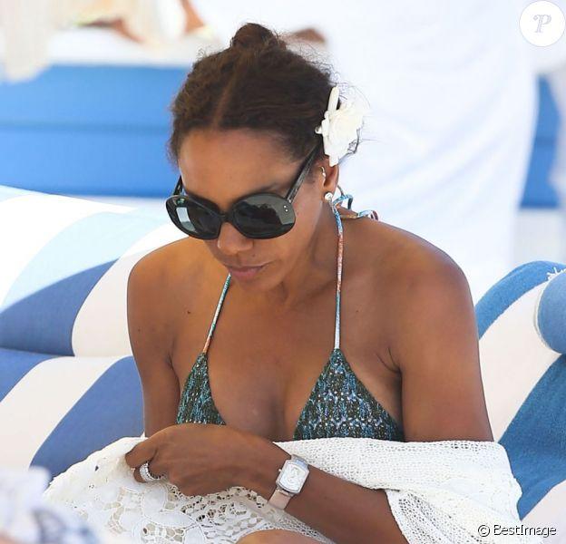 Barbara Becker sur une plage de Miami, le 19 avril 2013