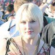 Hayley Hasselhoff, 20 ans et fille de David Hasselhoff, n'est pas vraiment mise en valeur dans cette robe aux motifs floraux. Indio, le 19 avril 2013.