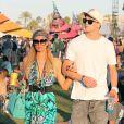 Paris Hilton et River Viiperi, en couple pour les derniers moments de Coachella. Le 19 avril 2013.
