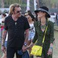 """"""" Johnny et Laeticia Hallyday, amoureux et complices, assistent au Festival de musique de Coachella, le 20 avril 2013 """""""