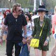 """"""" Johnny et Laeticia Hallyday assistent au Festival de musique de Coachella, le 20 avril 2013 """""""