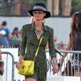 """"""" Laeticia Hallyday, très lookée, au Festival de musique de Coachella, le 20 avril 2013 """""""