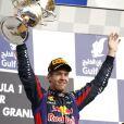 Sebastian Vettel lors du Grand Prix de Bahreïn à Sakhir, le 21 avril 2013