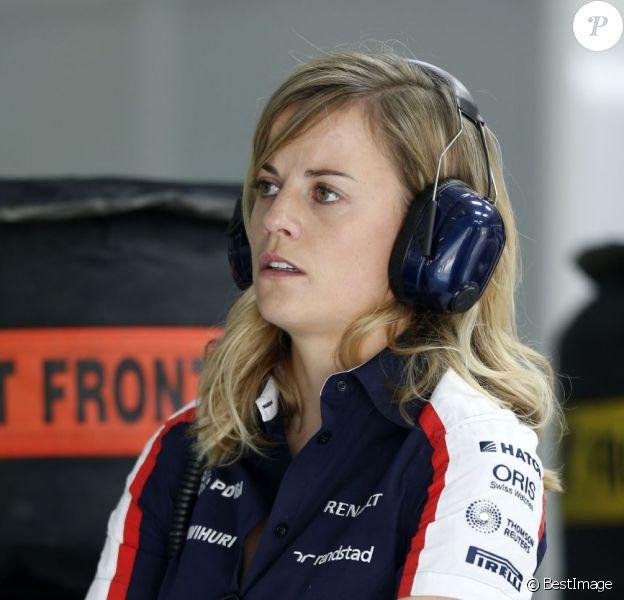 Susie Wolff, pilote d'essai Williams F1 lors du Grand Prix de Bahreïn à Sakhir, le 21 avril 2013