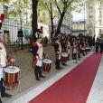 Inauguration du nouvel Institut deslettres et des manuscrits à Paris, le 24 avril 2013.