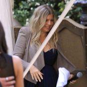 Fergie: Classe et sexy, elle montre son joli ventre rond au mariage de sa soeur