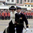Le prince Maurits d'Orange-Nassau et la princesse Marilène aux obsèques du prince Bernhard à Amsterdam le 11 décembre 2004