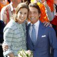 Le prince Maurits d'Orange-Nassau et la princesse Marilène lors du Jour de la reine le 30 avril 2012.