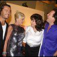 Ivana Trump, son mari Rossano Rubicondi, Joan Collins et son mari Percy Gibson
