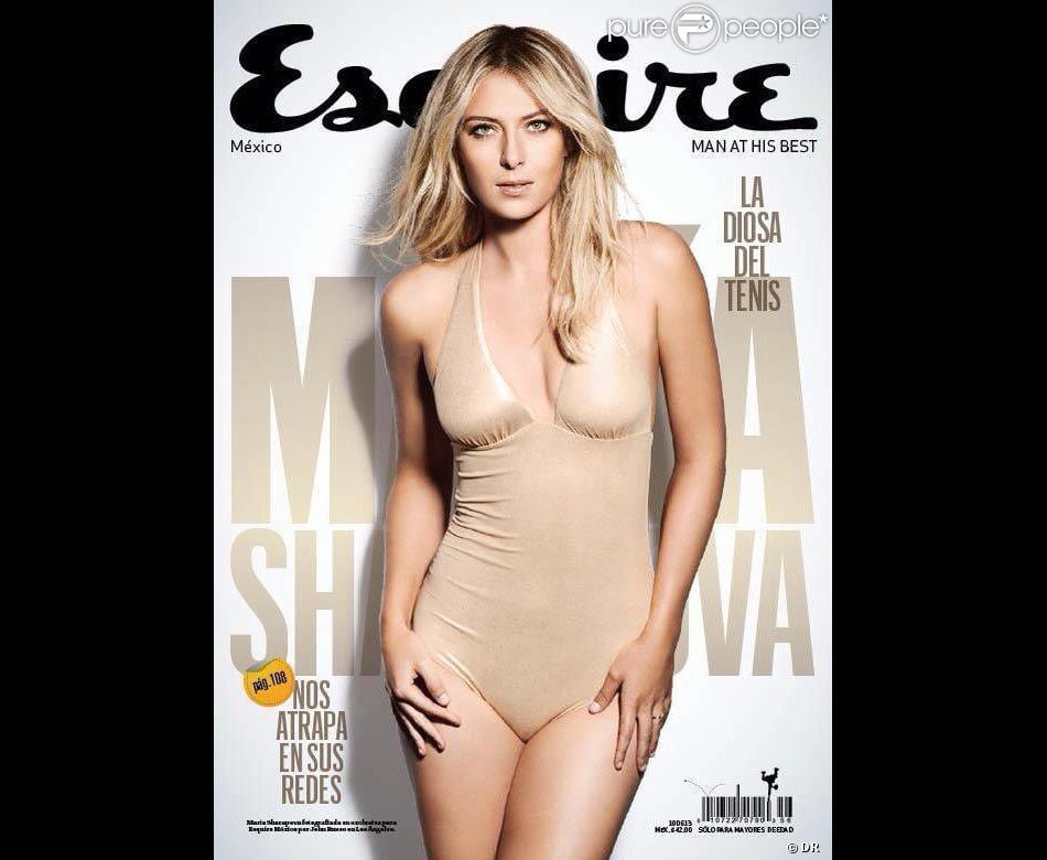 Maria Sharapova fait la une du magazine Esquire version amérique du sud du moi de mai 2013