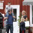 Sharon Stone et ses fils Laird et Quinn à Brentwood, le 5 mai 2013.