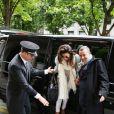 Eva Longoria arrive à l'aéroport Charles de Gaulle et se rend à son hôtel parisien, le 11 mai 2013