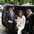 La belle Eva Longoria arrive à l'aéroport Charles de Gaulle et se rend à son hôtel parisien, le 11 mai 2013