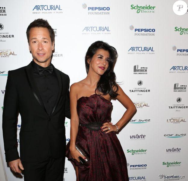 Stéphane Rousseau et sa compagne Reem Kherici à la soirée Planet Finance dans le grand salon du Carlton à l'occasion du 66eme festival de Cannes le 16 mai 2013.