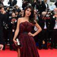 Reem Kherici, compagne de Stéphane Rousseau au Festival de Cannes 2013. Le 16 mai 2013.