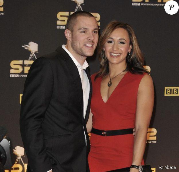 Jessica Ennis avec son fiancé Andy Hill lors de la soirée Sports Personality of the Year le 16 décembre 2012. Le couple s'est marié le 18 mai 2013 dans le Derbyshire.