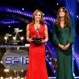 Jessica Ennis avec Kate Middleton lors de la soirée Sports Personality of the Year le 16 décembre 2012.