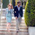 Jessica Chastain et son petit ami Gian Luca Passi à l'Hôtel Cap-Eden-Roc à Antibes lors du 66e Festival du film de Cannes, le 19 mai 2013.