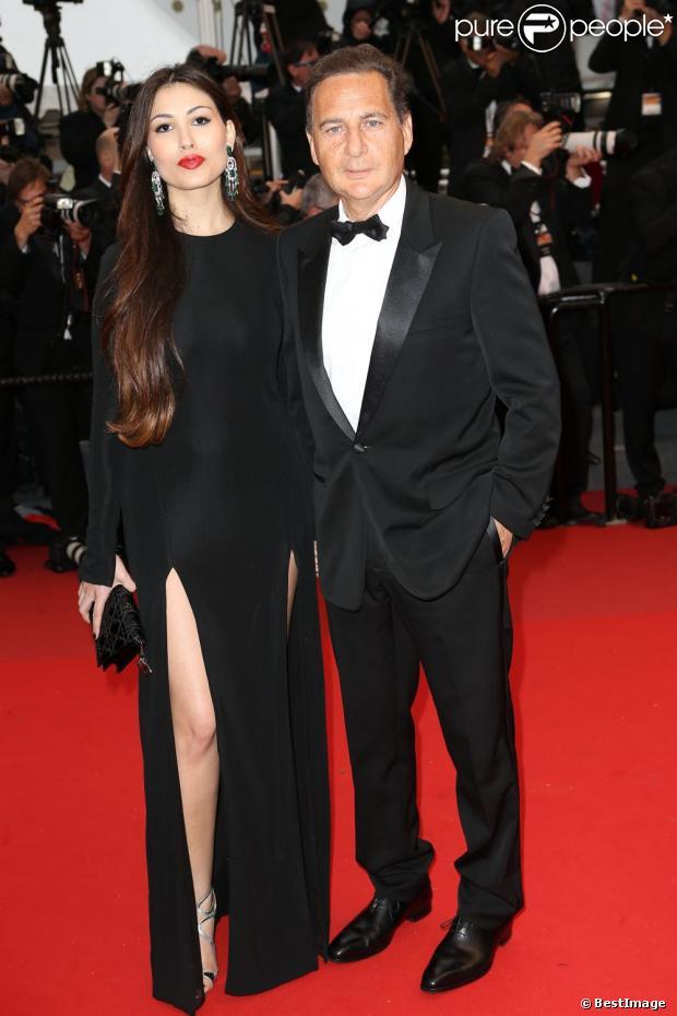 Eric et Yasmine Besson sur le tapis rouge de All is lost lors du 66eme Festival du film de Cannes, le 22 mai 2013.