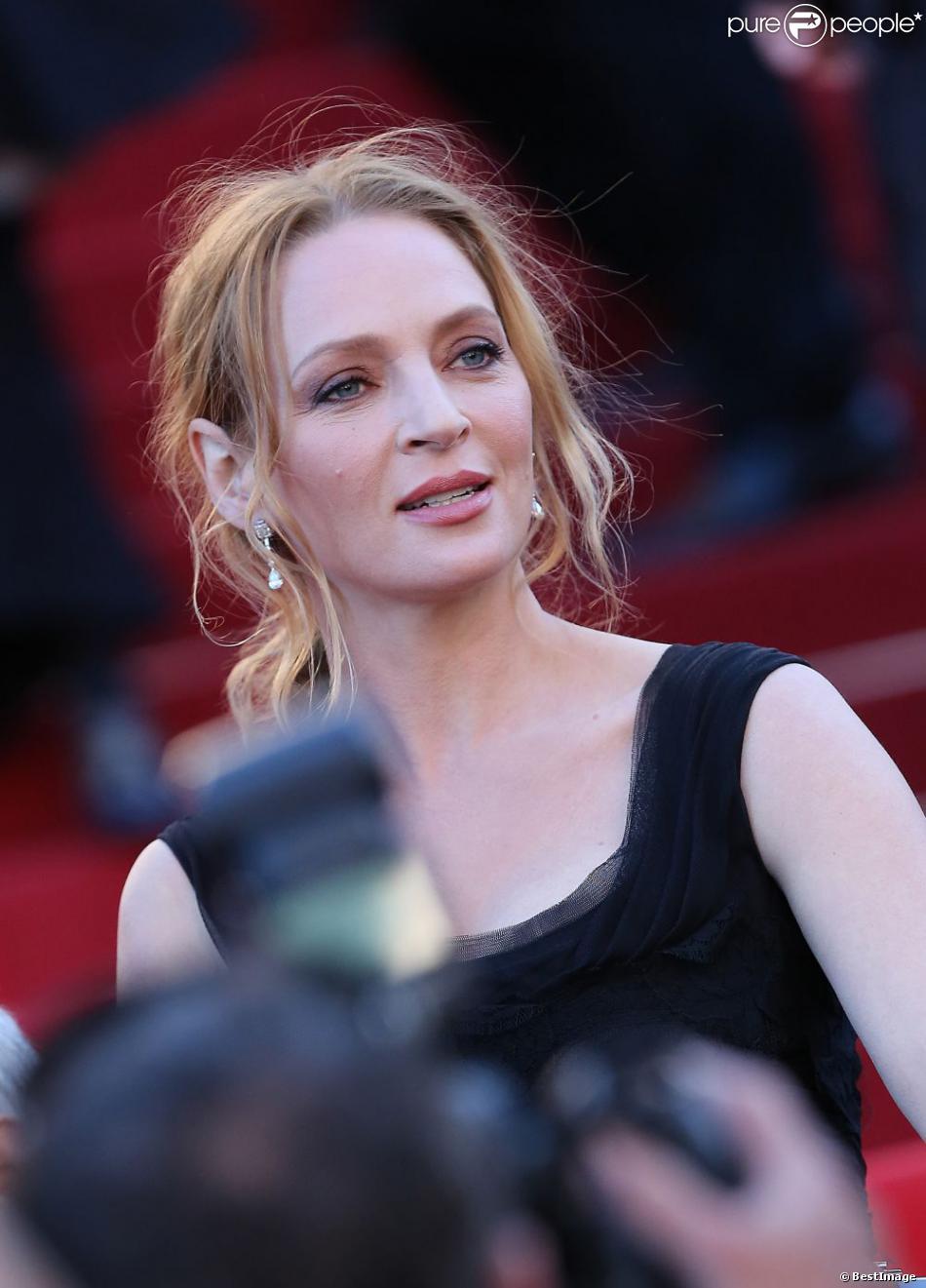 Cannes 2013 : Uma Thurman, brûlante, face à Clotilde Courau