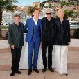 John Hurt, Tom Hiddleston, Jim Jarmusch et Tilda Swinton lors de la conférence de presse du film Only Lovers Left Alive au Festival de Cannes le 25 mai 2013