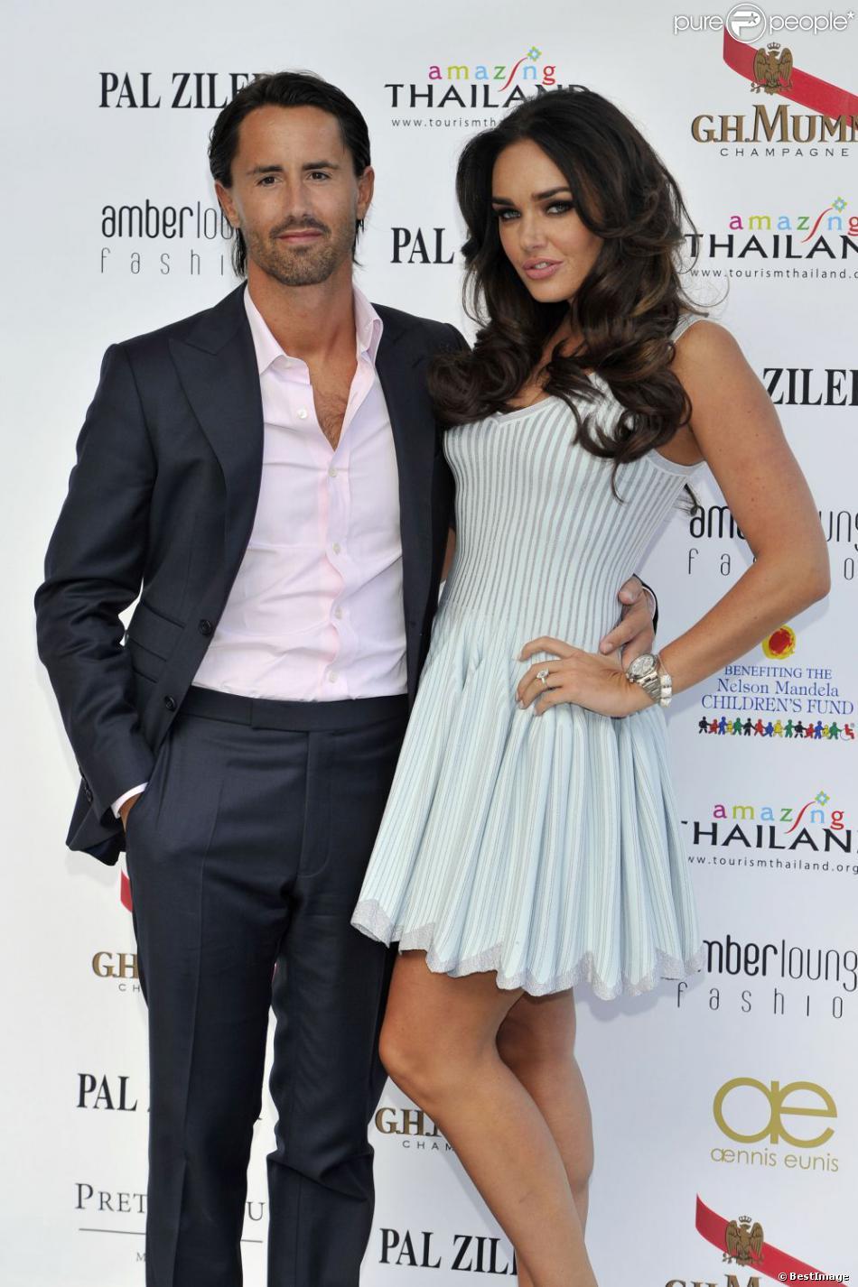 Tamara Ecclestone et Jay Rutlandlors du Amber Lounge Fashion Show à Monaco au Méeridien Beach Plaza le 24 mai 2013