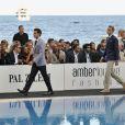 Les pilotes de Formule 1lors du Amber Lounge Fashion Show à Monaco au Méeridien Beach Plaza le 24 mai 2013