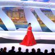 Audrey Tautou lors de la cérémonie de clôture et la remise des prix du Festival de Cannes le 26 mai 2013