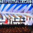 La fin de la cérémonie de clôture et de la remise des prix du Festival de Cannes le 26 mai 2013
