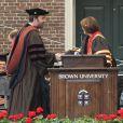 """Ben Affleck reçoit le doctorat d'honneur de l'Université de Brown à Rhode Island, le 25 mai 2013. L'acteur et réalisateur reçoit un doctorat d'honneur en beaux-arts pour ses travaux, notamment son dernier film """"Argo""""."""