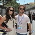 Tamara Ecclestone et Jay Rutland dans les travées du paddock du Grand Prix de Monaco le 26 mai 2013