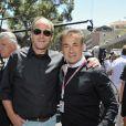 Gerard Bergher Jean Alesi dans les travées du paddock du Grand Prix de Monaco le 26 mai 2013
