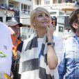 Cameron Diaz dans les travées du paddock du Grand Prix de Monaco le 26 mai 2013