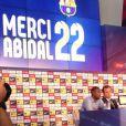 Conférence de presse d'adieu d'Éric Abidal au FC Barcelone le 30 mai 2013