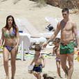 Le footballeur Fernando Torres en vacances à Ibiza avec sa femme Olalla et leurs deux enfants Nora (3 ans) et Leo (2 ans).