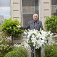 Pierre Bergé - Inauguration de la plaque à la mémoire d'Yves Saint Laurent apposée sur la façade du 55, rue de Babylone, à Paris le 1er juin 2013.