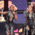 Mary J Blige et Jennifer Lopez lors du concert Sound of Change, à Londres, le samedi 1er juin 2013.
