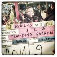 Twitter de Dounia Coesens - Sur le tournage de Camping Paradis