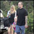 Jesse James et ses filles Chandler et Sunny, à Austin, le 25 août 2010.