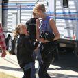 Laura Dern sur le tournage de la série télévisée à sketchs Kroll Show à Los Angeles, le 4 juin 2013.