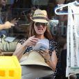Brooke Shields et ses filles Rowan et Grier dans le quartier de Soho à New York le 1er juin 2013.