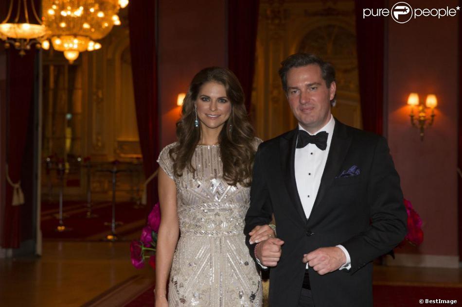 La princesse Madeleine de Suède et Chris O'Neill au dîner donné à la veille de leur mariage, le 7 juin 2013 au Grand Hotel de Stockholm
