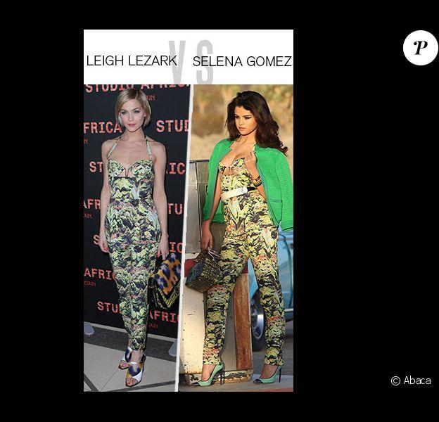 Match de look : Leigh Lezark vs Selena Gomez, l'imprimé exotique