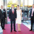 La princesse Mary de Danemark accompagnait son époux le prince Frederik lors de l'inauguration de la Maison de l'Industrie à Copenhague le 10 juin 2013