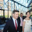 La princesse Mary accompagnait son époux le prince Frederik lors de l'inauguration de la Maison de l'Industrie à Copenhague le 10 juin 2013